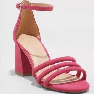 A New Day Pink Krysten Block Heel Sandal